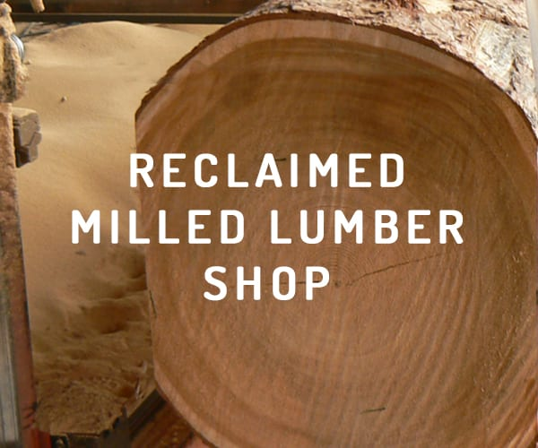 Reclaimed milled lumber shop