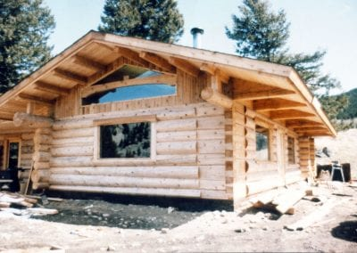 Custom Log Home, BT Built ca 1983 near West Boulder River - McCloud, MT