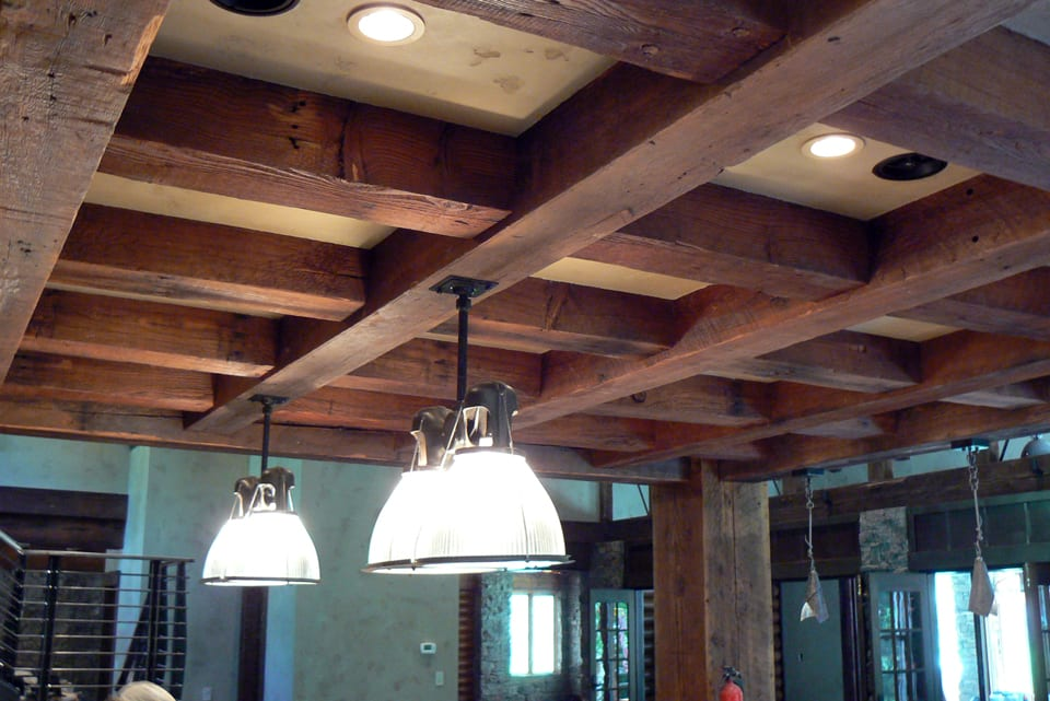 How to build a box beam ceiling for How to build a box beam