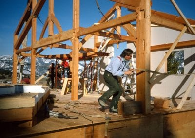 Custom Timberframe, Early BT Built Timberframe Home - Big Sky, MT