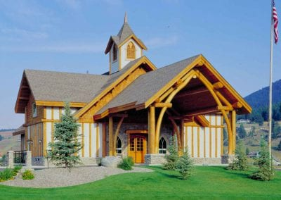 Custom Log Frame, Big Sky Chapel_Big Sky, Montana