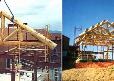 Custom Log Trusses, St.Sophia Lodge_Telluride,CO
