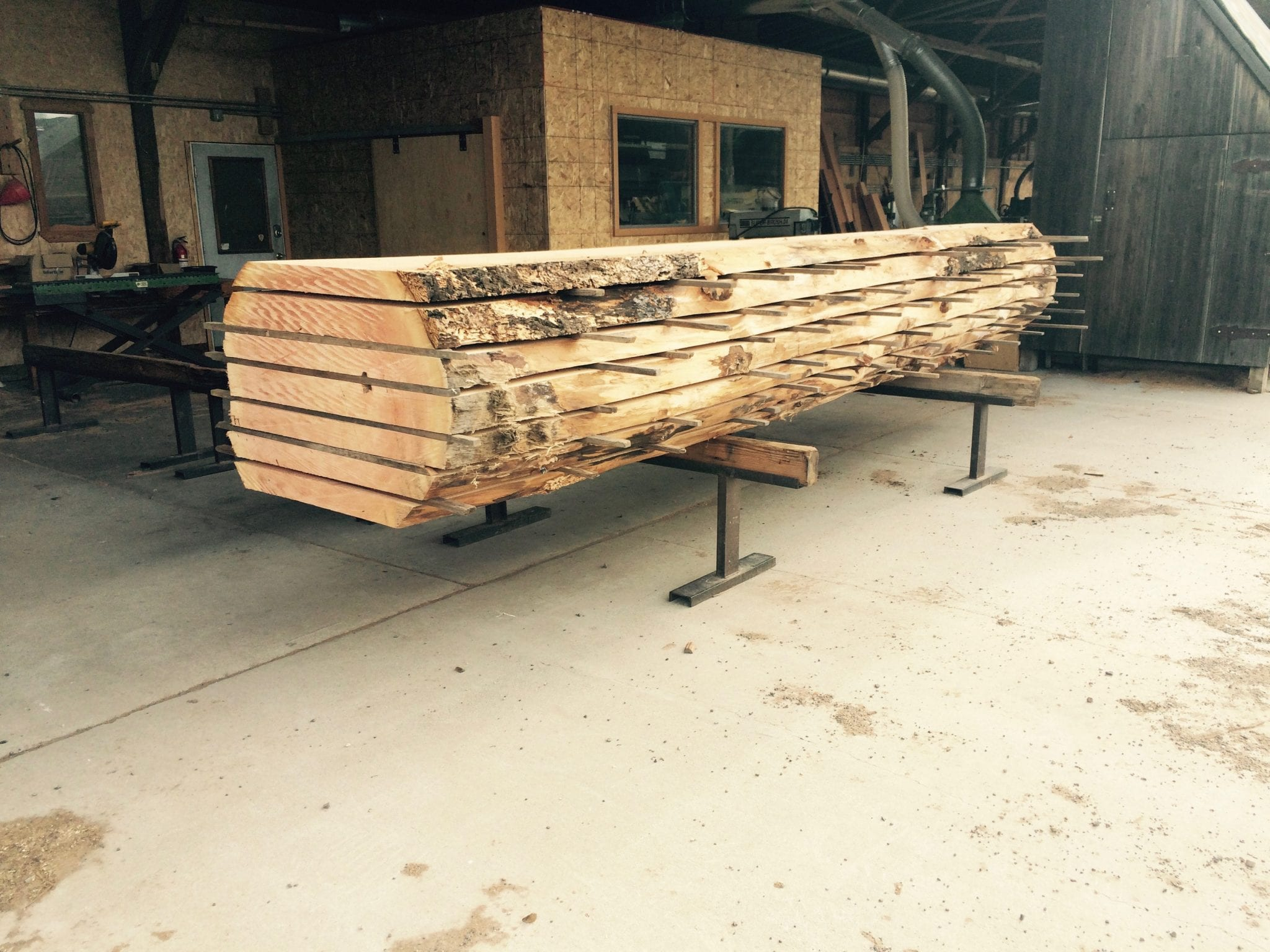 Live edge wood slabs for sale by big timberworks for Live edge slab lumber
