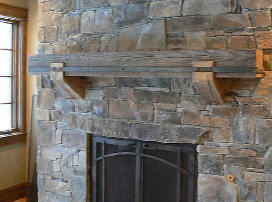 Reclaimed Fireplace Mantel 6
