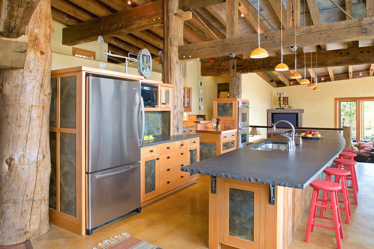 Post And Beam Kitchen Design