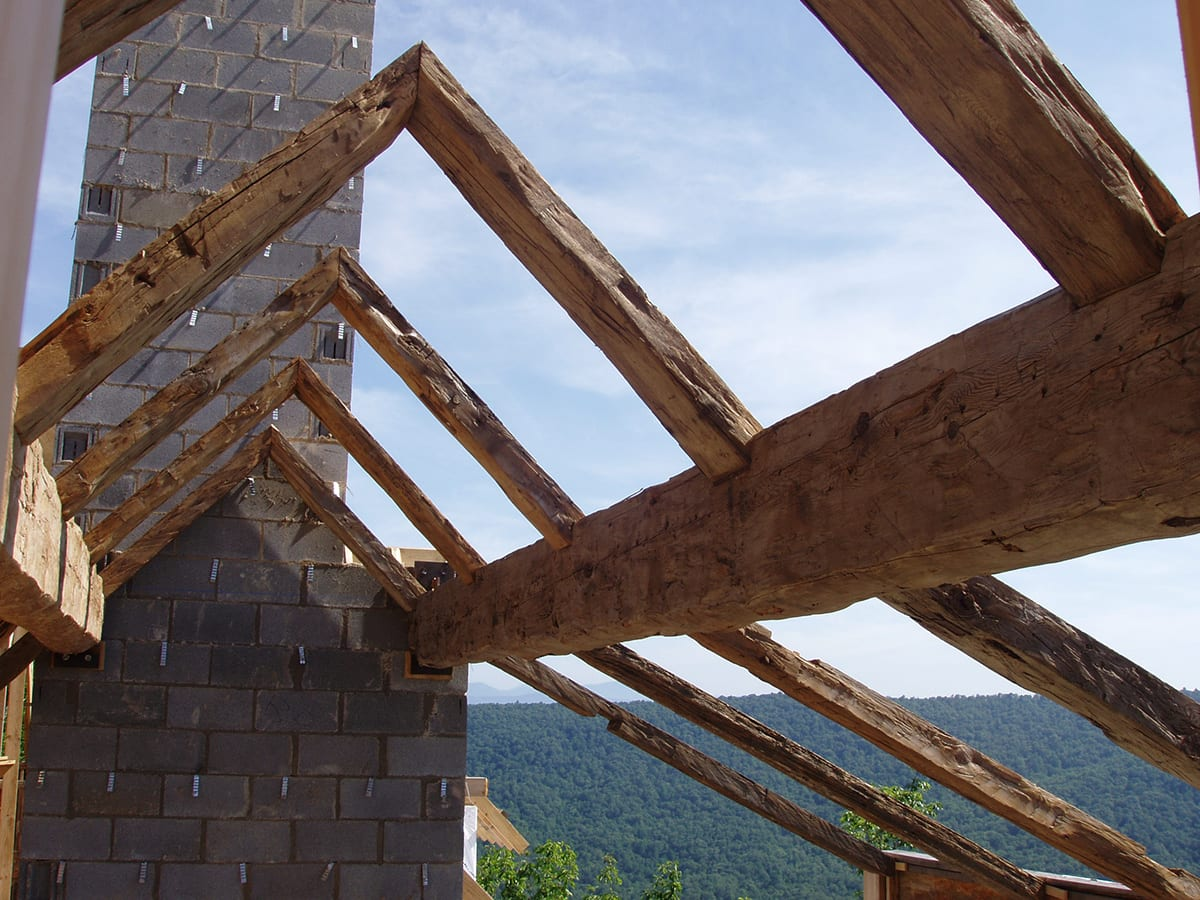 Post And Beam Framing Reclaimed Beam Construction Big