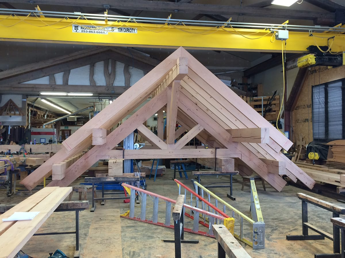 Reclaimed Timber Trusses - Big Timberworks Bozeman MT