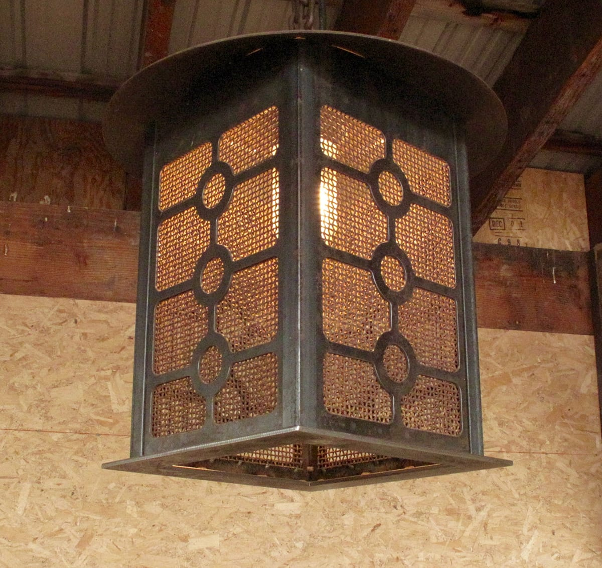Custom Metal Lighting Big Timberworks Bozeman Mt