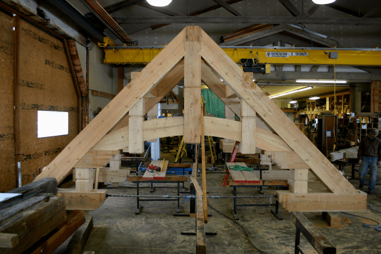 full-hammer-beam-truss-manufacture-with-arched-chord