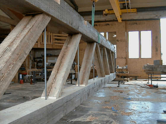parallel-chord-truss-in-shop-manufacture